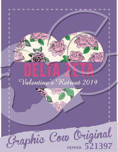 Delta Zeta Valentines heart rose crush #grafcow