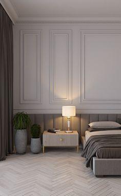Master Bedroom Interior, Bedroom Bed Design, Modern Bedroom Design, Home Room Design, Home Bedroom, Interior Design Living Room, Bedroom Decor, Modern Classic Bedroom, Modern Classic Interior