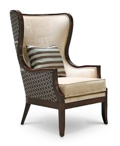 "Colette - ""people of victory."" With a Curved look to a Wing Back chair, the Colette Lounge makes a statement. #furniture #design #interiors"