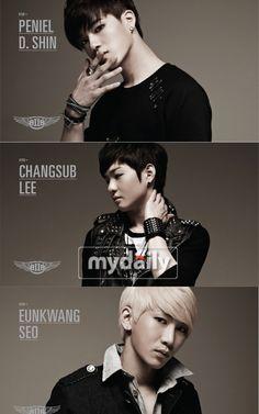 BTOB's Peneil, Changsub,and Eunkwang- My whole BtoB bias list in one shot