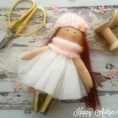 Handmade doll, Tilda doll, Decorative Doll, Shabby Chic, fabric doll, rag doll