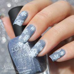 snowflakes by nailz_craze_plushable #nail #nails #nailart