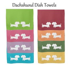 Dirty dish duty isn't so bad with a little dachshund help. Great hostess gift or Christmas gift for a doxie loving chef.