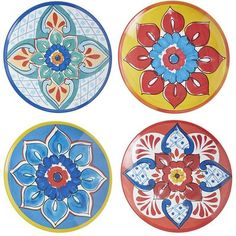 We're having a party and you're invited. Our Baja Brights appetizer plates coordinate with our dinnerware and help make any gathering a celebration. Inspired by traditional Mexican pottery designs but made of melamine, they're shatter-resistant, which makes them as much fun on the patio as they are in the kitchen. Dishwasher-safe, too—another reason to celebrate.