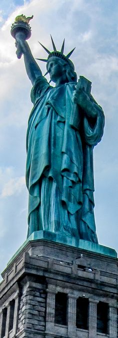 "Our Lady. ""Keep ancient lands, your storied pomp!"" cries she With silent lips. ""Give me your tired, your poor, Your huddled masses yearning to breathe free, The wretched refuse of your teeming shore. Send these, the homeless, tempest-tost to me, I lift my lamp beside the golden door!"""