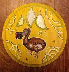 DODO Bird Original Art Acrylic and Ink on Wood by Ckrickett, $35.00