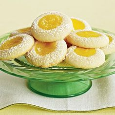 weight watchers recipes: Lemon Thumbprint Cookies 1 Points Plus+ Mothers Day Desserts, Ww Desserts, Lemon Desserts, Lemon Recipes, Ww Recipes, Skinny Recipes, Dessert Recipes, Cooking Recipes, Healthy Recipes