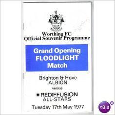 Brighton Hove Albion v Rediffusion 17/5/1977 Floodlight Football Programme Sale