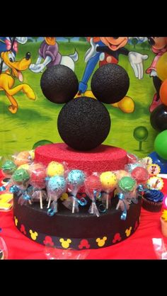 Mickey Mouse Clubhouse Birthday Cake Pop Stand | eBay Mickey Mouse Birthday Theme, Mickey Mouse Clubhouse Birthday, Mickey Mouse Parties, Mickey Party, 1st Birthdays, 1st Birthday Parties, 2nd Birthday, Birthday Ideas, Cake Pop Stands