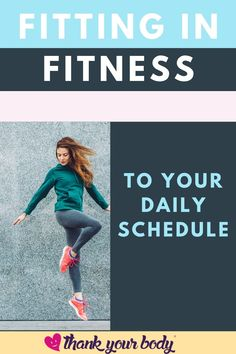 Fitting in fitness to your daily schedule can be daunting at first. You might feel overwhelmed and lack motivation, but as soon as you manage to slot it into your planner, your fitness challenge and goals will feel closer than ever. Check out this post by Thank Your Body to find out more about how to fit your fitness into your daily schedule. #fitnessathome #dailyfitness #fitnessschedule #fitnessplanner #fitnessjourney