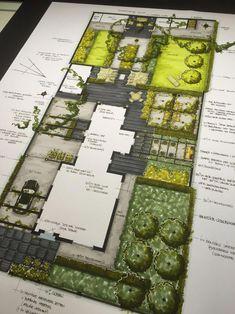Home Garden Landscape Plans; Butterfly Garden Landscape Plans via Landscape Gardening Ideas For Small Gardens Landscape Model, Landscape Architecture Drawing, Landscape Sketch, Landscape Design Plans, Garden Design Plans, Garden Architecture, Landscape Drawings, Architecture Plan, Landscaping Design