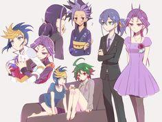 Yugo, Yuri, Ruri, Yuto, Serena and Yuya