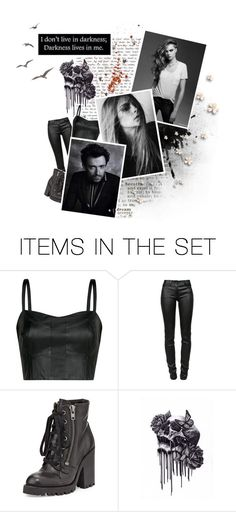 """""""Last things last, By the grace of the fire and the flames. You're the face of the future, the blood in my veins"""" by nikkit13 ❤ liked on Polyvore featuring art and sgfyround02"""