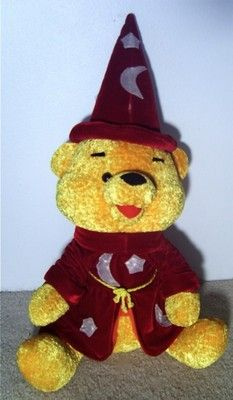 "RARE DISNEY COLLECTIBLE!  Huge Winnie the Pooh Plush Fantasia Wizard Bear.  32"" tall.  Free Shipping.  $199"