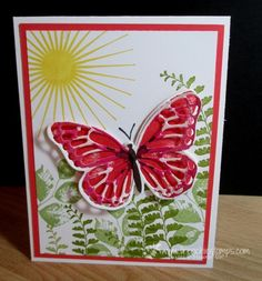 Stamp & Scrap with Frenchie: Watercolor Wings video #watercolorwings #stampinup #bigshot
