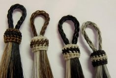 Horse hair tassel Natural and  colored hand-dyed by Knotatail