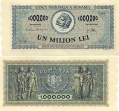 Romania  1 Million Lei 16.4.1947 (Trajan & Decebal)