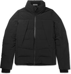 <a href='http://www.mrporter.com/en-gb/mens/designers/Descente'>Descente</a>'s 'ALLTERRAIN' line is inspired by the notion of 'less' - it is sceneless, ageless and timeless. The minimalist design of its 'Stealth' jacket is a deft example of the label's commitment to this aesthetic. Made with front zipped pockets and a concealable hood, it is generously quilted with down and feathers for lightweight, na...