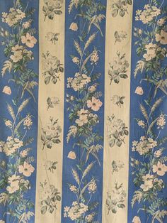 Cotton Floral, Large Piece! Nice AntiqueVintage DECO ERA Fabric Panel!