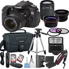 This Al's Variety Camera Bundle Kit comes complete with Manufacturer Supplied Accessories and 1-Year Seller Supplied, and Includes: Canon EOS 70D DSLR Camera features a 20.2 megapixel APS-C CMOS sensor and DIGIC 5+ image processor to ensure high-resolution images and excellent low-light sensitivity. Both the sensor and processor work together to produce well-detailed, clear imagery that exhibits natural tonality and color gradations with minimal noise when working in di