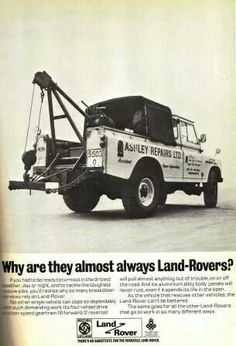// Land Rover One Ton advertisement