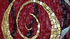 """Detail of glass mosaic """"Unchained"""" by Brit Hammer. See more images on www.brithammer.com"""