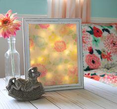 Floral night light DIY