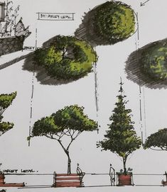Arlene Lachapelle arch sketchbook sketch architect architecture is part of - Arlene Lachapelle arch bloc de dibujo bosquejo arquitecto arquitectura Landscape Architecture Drawing, Architecture Concept Drawings, Architecture Sketchbook, Landscape Sketch, Landscape Drawings, House Architecture, Landscape Design, Architecture Portfolio, Classical Architecture