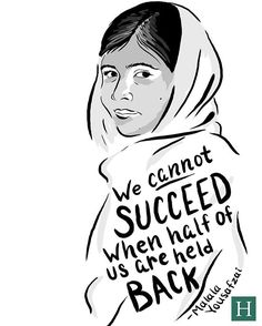 """""""Hey all, take the time today thank someone who changed your life. Empowerment Quotes, Women Empowerment, Malala Yousafzai Quotes, Religion, Women In History, Some Words, Girls Be Like, Strong Women, Girl Power"""