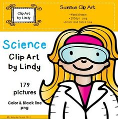 Science Clip Art.   Here are 179 science images ready for scientific action!   All images are in png (transparent background) and are high resolution 300dpi. It can be easily layered, rotated and incorporated into any product.  $