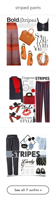 """striped pants"" by smillafrilla ❤ liked on Polyvore featuring STELLA McCARTNEY, The Bee's Sneeze, Givenchy, Mulberry, Max&Co., Michael Kors, WearAll, WALL, MAC Cosmetics and Sunny Rebel"