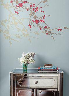 Cutting Edge Stencils - Sakura and Butterflies Stencil
