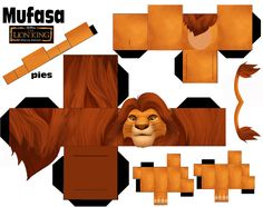 Lion King- Cubecraft for kids Paper Cube, 3d Paper, Paper Toys, Imprimibles Toy Story Gratis, Origami, Lion King Party, Le Roi Lion, Paper Animals, Disney Lion King