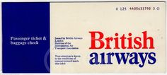 British Airways Ticket