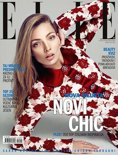Fashion model Carola Remer on ELLE Croatia October 2015 cover Photoshoot