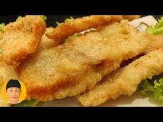 Como fazer peixe frito super crocante - YouTube Pork Chops, Japanese Food, Carne, Seafood, Appetizers, Low Carb, 36, Bts Jimin, Minis