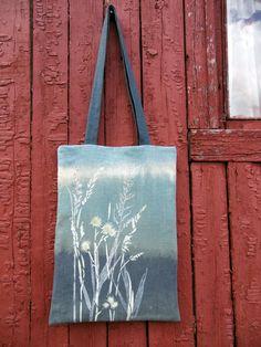 Floral Linen Tote Bag, Natural Linen Bag, Hand Painted Bag, Ecological Bag, Unisex Bag, Stylish Bag, Tote Bag