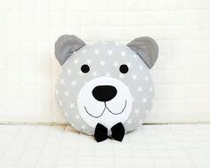 Bear Pillow Teddy Bear Baby Shower Gift Nursery Decor Girl Teddy Bear Pillow Bear Plush Bear Cushion Bear Toy Kid Room D. Cute Pillows, Baby Pillows, Kids Pillows, Sewing Toys, Baby Sewing, Teddy Bear Baby Shower, Bear Decor, Fabric Toys, Bear Doll