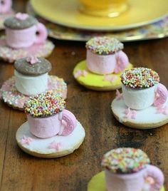 Tea Cup Biscuits - Any Variation will make a beautiful party treat for your little girls next birthday.