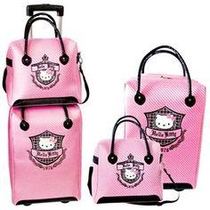 Hello Kitty 'Prep 1976' Travel Luggage Set