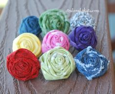 Fabric Flower Rings.