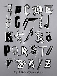 Metal Alphabet  https://www.tsu.co/eatnails