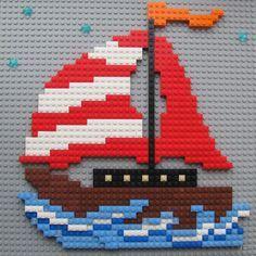 A blog about Lego Mosaics and the builders who create them. Lego Hacks, Lego Therapy, Modele Lego, Lego Boat, Lego Wall, Lego Challenge, Lego Club, Lego Builder, Lego Storage
