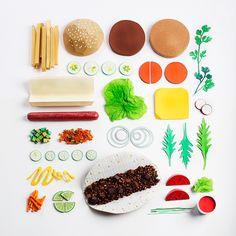 Resultado de imagen de papercraft food