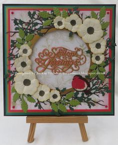 Tinyrose's Craft Room: Christmas Rose Christmas card.