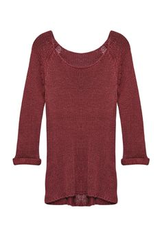 Burgundy is a staple, and Tory Pullover by JustFab is so versatile we know you'll be dressing up or down for seasons to come.