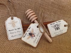 100 Qty honey straw favors with personalized tag and by holyhoney, $275.00  Instead of Meant to Bee- Mommy to Bee or Baby to bee