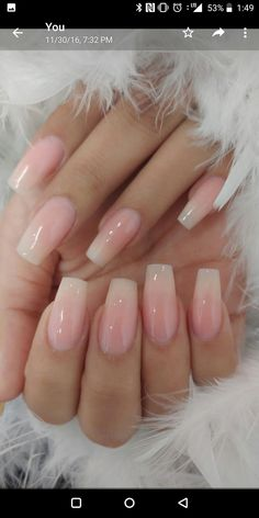 Nails 25 + ›Nagelmode 2019 10 Nice Hair Care Suggestions In case you watch the tabloids, Acrylic Nails Natural, Simple Acrylic Nails, Square Acrylic Nails, Pink Acrylic Nails, Pink Nails, My Nails, Acrylic French Manicure, Natural Color Nails, Natural Looking Nails