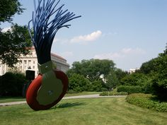 Claus Oldenburg's monumental typewriter eraser leaves an indelible impression on visitors to the National Gallery of Art's six acre sculpture garden. The fountain inside the garden is transformed into a skating rink come winter.