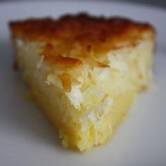 Impossible Coconut Pie - I wonder if this would be lower in fat because there is no crust? Going to try and see!